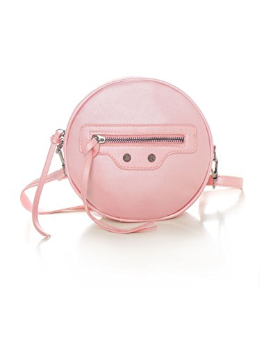 uxcell Bag PU Strap Pink Women Closure Round Zip Detachable Crossbody fwrP8Yqfx