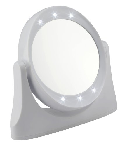 FMG White LED Mirror 10x Magnification Style 1081