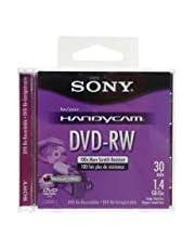Sony® DVD-RW Mini Recordable disc DISC,DVD-RW,8CM,30M,1.4GB 7107