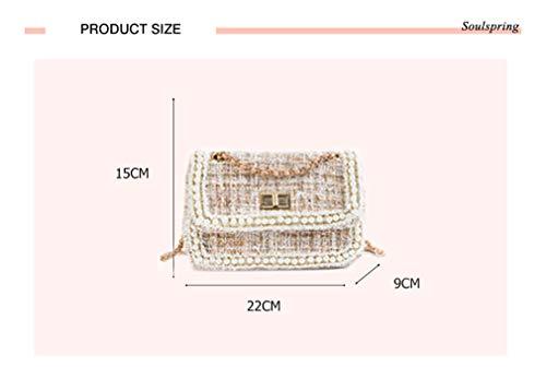 Beige Black1 Messenger Crossbody Bag Ladies Femmes Sacs bandoulière à 22CM9CM15CM aq1Tx0xz