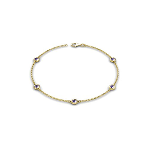 - TriJewels Petite Iolite by the Yard 5 Stations Bracelet 0.40 ct tw in 14K Yellow Gold