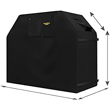 """Grill Cover - garden home Up to 58"""" Wide, Water Resistant, Air Vents, Padded Handles, Elastic hem cord - Heavy Duty burner gas BBQ grill Cover"""