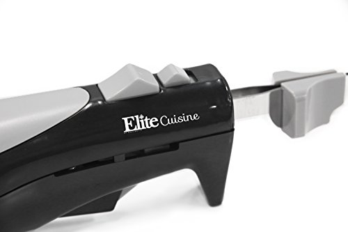 Elite Cuisine EK-570B Maxi-Matic Electric Knife with 2 Serrated Blades and Easy Eject, Black (Stainless Steel) by Maxi-Matic (Image #2)