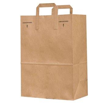 - General 1/6 BBL 70# Paper Bag, E-Z Tote Handle Sack, Brown, 300-Bundle - 300 paper bags per bundle.
