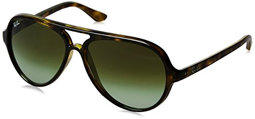 Ray-Ban Men's Cats 5000 Aviator Sunglasses, Havana, 59 - Plastic Ban Aviator Ray Lenses