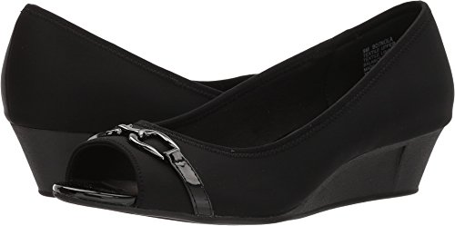 Bandolino Womens Nola Wedge Heels 7.5 Black