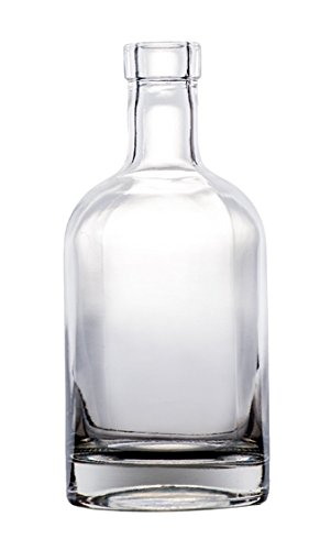 North Mountain Supply Nordic 750ml Clear Glass Wine/Spirits Bottle Bar Top Finish - Case of 4