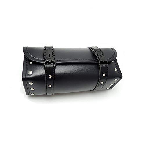 Motorcycle Fork Bag Handlebar Bag PU Leather Storage Tool Bags Organizer With 2 Straps ()