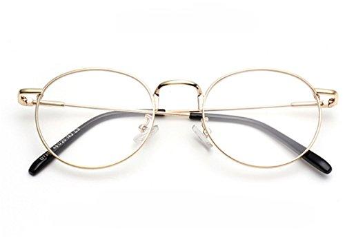 Lunettes JeuVerres à Gold Bleue Fatigue lentille oculaire Circulaire Grande SMX Transparent Rond Anti Ordinateur rayonnement Smx glasses Miroir frame Portable pour Téléphone Lumière Filtre 4AaXATB