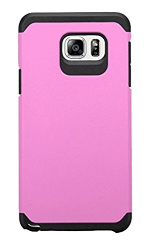 Asmyna Cell Phone Case for Samsung Galaxy Note 5 - Retail Packaging - Black/Pink