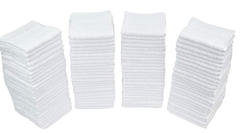 "- Simpli-Magic 78992-60PK White (Size:12""x12"") Terry Towels Cleaning Cloths. Ideal for Home, Auto, Salon, Gym, Makeup Removing & Pets, 60 Pack"