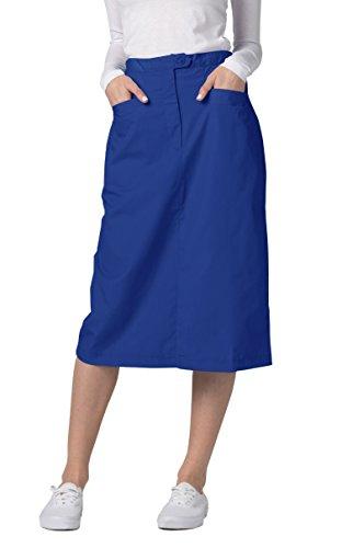 Adar Universal Mid-Calf Length Angle Pocket Skirt - 706 - Royal Blue - Size 6 ()