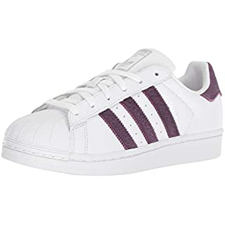 adidas Originals Women's Superstar Sneaker, White/Red Night/Silver Metallic, 7.5