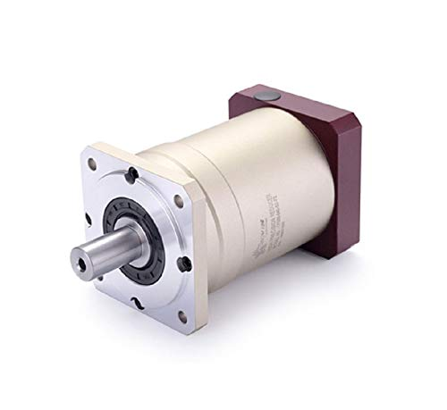 (Fevas 120 Double Brace Spur Gear Planetary Reducer Gearbox 8 arcmin 3:1 to 10:1 for 1kw 2kw 130 AC servo Motor Input Shaft 22mm)