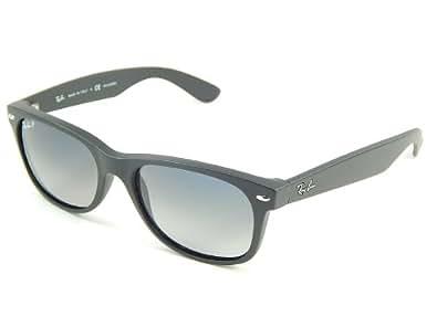 Ray Ban RB2132 Wayfarer 601S78 Matte Black/Polar Blue Gradient 55mm Sunglasses