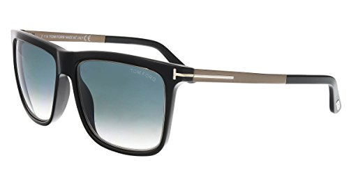 a1d0615a942ad Tom Ford TF392 02W Black Karlie Rectangle Sunglasses Size 57mm ...