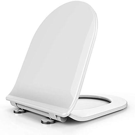 丸型便座、カバー付き、ソフトクローズ、クイックリリースで清掃が簡単、樹脂素材には臭いがありません、調節可能な距離、ほとんどの標準トイレに適合