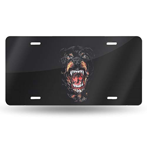Homlife Personalized License Plate, Cool Rottweiler Dog Art Aluminum Novelty USA Car Tag, 6 X 12 Inches for Home Wall Art Decor
