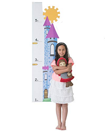 Growth Chart For Kids - Castle Growth Chart Decal - Height Chart For Kids Vinyl Decal - Castle Nursery Wall Decor - Height Measurement For Kids - Kids Height Wall Chart ()