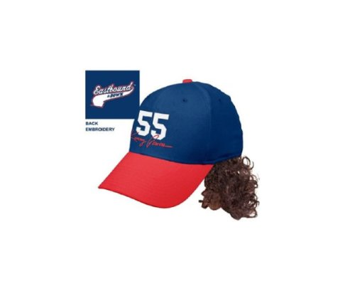 Kenny Powers Costumes (Eastbound & Down Kenny Powers 55 Baseball Cap Hat With Mullet Wig)