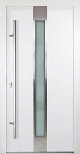 Aluminium Haustür 68mm Weiß Mit Glas 1000 Mm B X 2000 Mm H Bew