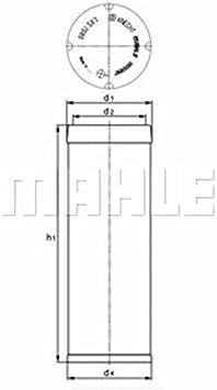 Mahle Knecht Filter Lxs7060 Sekundäluftfilter Auto