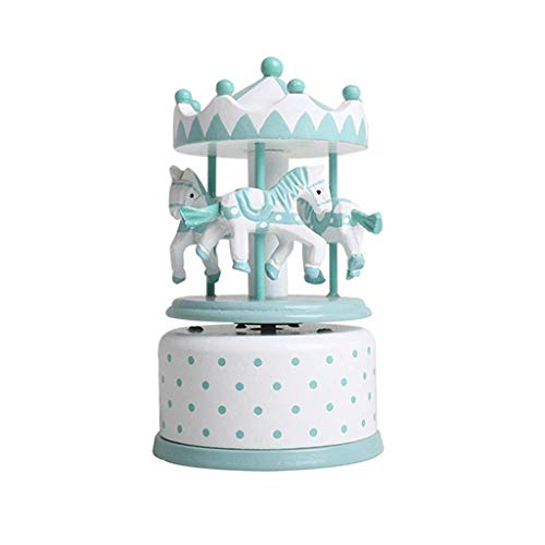 ZHAS Hong Yi Fei-Shop-Musical Boxes & Figurines Carousel Music Box, Classic Rotating Music Box, Best Holiday Birthday Gift for Children Friends (Color : Green)