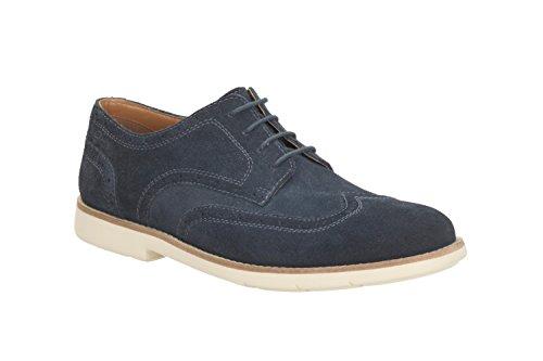 Clarks Raspin Brogue - Zapatos de cordones de Piel para hombre Azul azul