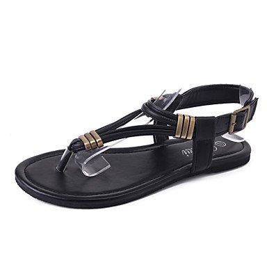 Wome's sandalias verano PU confort informal hebilla tal¨®n plano caminando US5.5 / EU36 / UK3.5 / CN35