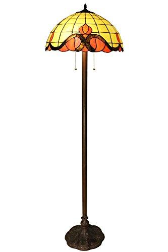 Whse of Tiffany MAGCOL 184 Medina 2-Light Tiffany-Style Floor Lamp, 62