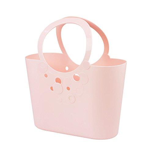 Borsa spiaggia cestino flessibile multiuso Lily 40 x 17 x 45,5 cm colore: rosa cipria