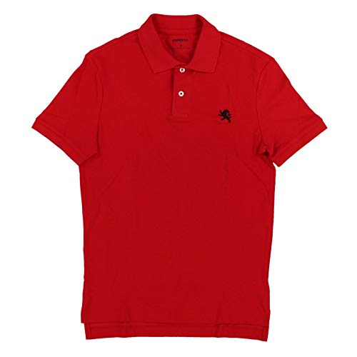 Express Mens Modern Fit Pique Polo Shirt (XS, Red)