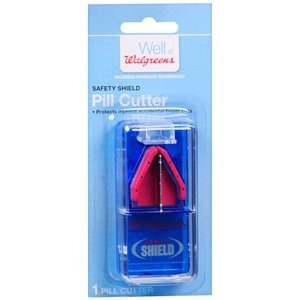 e7c3c4718a Amazon.com  Walgreens Safety Shield Pill Cutter 1 ea  Health ...