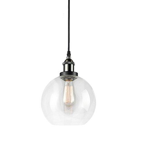 Globe pendant light amazon claxy ecopower lighting vintage clear glass shade pendant lighting 1 light aloadofball Gallery