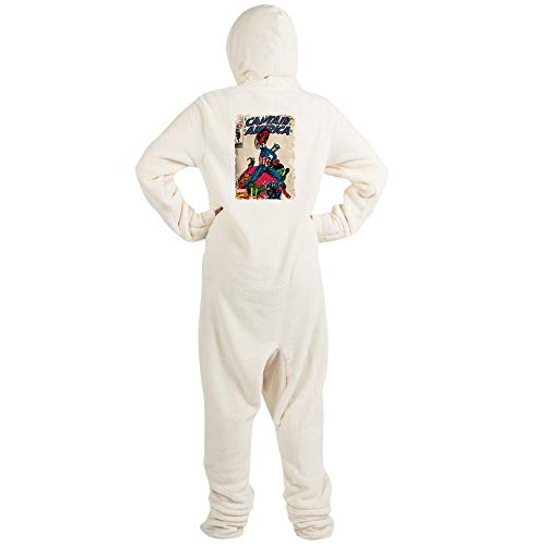 CafePress Captain America Novelty Footed Pajamas, Funny Adult One-Piece PJ Sleepwear -