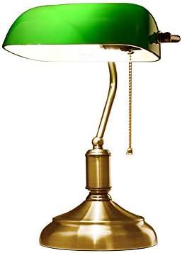 Lámpara de Mesa del banquero Retro Europeo Antigua lámpara de ...