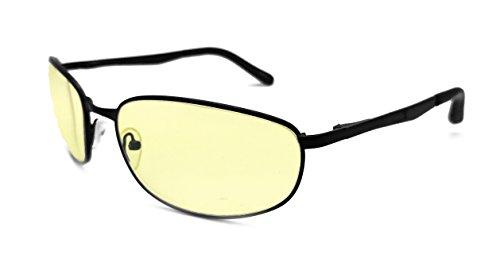 Game Hero Computer Glasses with Anti-Blue Light Lenses for Gaming, Oval, Black Frame, - Gamers Eyewear Edge