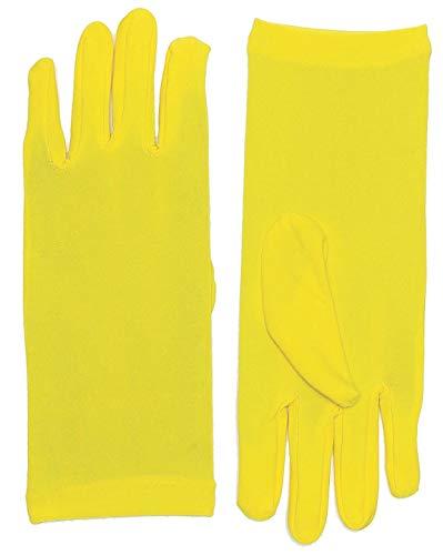 Forum Novelties Women's Novelty Short Dress Gloves, Yellow, One Size]()