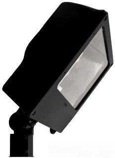 RAB Lighting FNS400SFQT High Pressure Sodium Floodinator Floodlight with Slipfitter Mount, ED18 Type, Aluminum, 400W Power, 50000 Lumens, 277V, CWA-HPF QT Ballast, Bronze Color