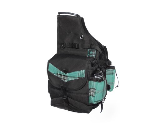 Kensington Insulated Saddle Bag 2 Water Bottles, Black Ice (Equestrian Saddlebag)