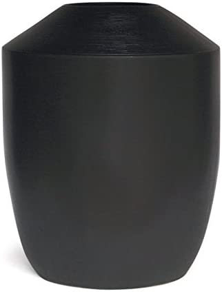 Hosley Inscribo Vase 20 Inch High Black Dramatic Large Scale Designer Floral Vase. Ideal Gift for Wedding Party Home Decor Spa O9