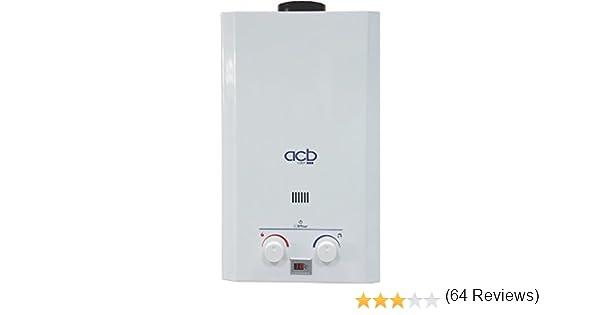 Calentador a Gas GLP (Butano/propano) ACB 10 Litros: Amazon.es: Bricolaje y herramientas