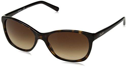 DKNY Women's Plastic Woman Square Sunglasses, Dark Tortoise, 56 - Dkny Sunglasses