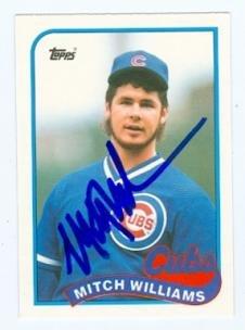 Autograph Warehouse 70528 Mitch Williams Autographed Base...