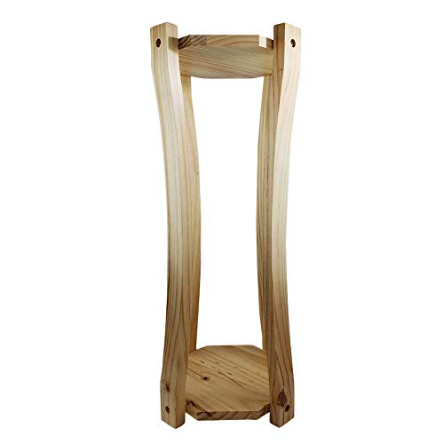 For Your Water Curved Hard Wood Water Crock Dispenser Floor Stand - - Dispenser Stand
