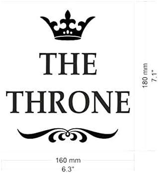Eurroweb Sticker pour Toilettes en Vinyle Autocollant The Throne
