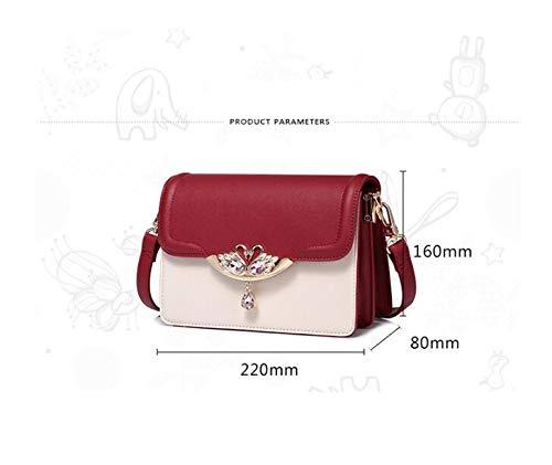 Women Handbag Fashion Shoulder Crossbody Bag Korean Contrast Color Small Square Totes Organ Bag