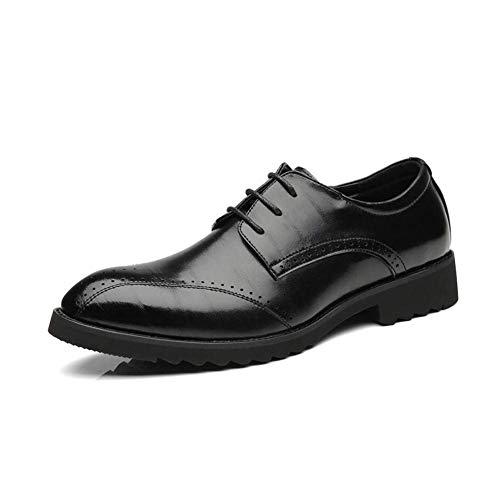 Punta De Zapatos Confortables Con Rojo Hombres Encaje Negocios Se Primavera Como 42 Cuero Fuweiencore Formales Marrón Puntiaguda Moda Otoño Negro Muestra Para Negro 47wWqd