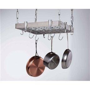 Square Stainless Steel Ceiling Hanging Pot Rack Rack Pot Pan Kitchen Holder Hanging CHOOSEandBUY