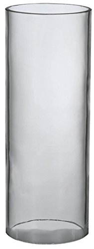 """Meyda Tiffany 116645 Cylinder Shade, 3"""" W x 8"""" H, Clear"""